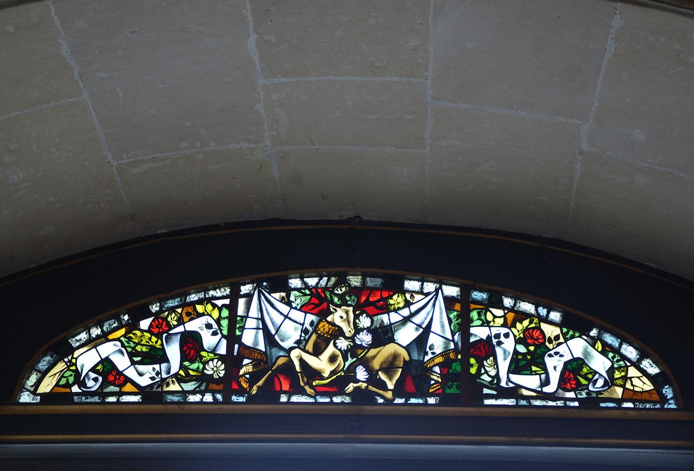 photographie du vitrail au dessus de la porte d 39 entr e. Black Bedroom Furniture Sets. Home Design Ideas